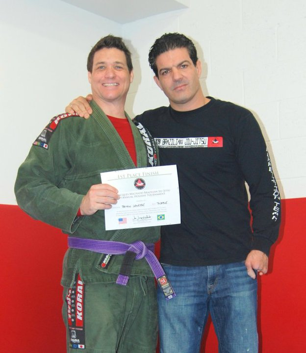 Bryan winning at Purple Belt at JJM tournament